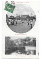 Cpa: 50 SAINT PAIR SUR MER (ar. Avranches) Plage Et Casino - Etang De Gatigny (2 Vues) 1913 Phot. J. Puel - Saint Pair Sur Mer