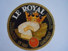 Etiket Etiquette Camembert Le Royal Fromage Fabriqué En Picardie Berck - Fromage