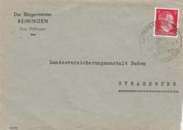 Lettre Cachet Illustré LUTTERBACH Oberels Alsace 7/8/1944 à Strassburg ( Strasbourg ) - Alsace-Lorraine