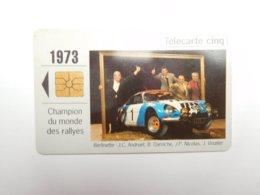 Télécarte Privée , 5U , Gn121 , Auto Renault 1973 , Alpine Berlinette - France