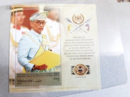 2019 Malaysia Coronation Sultan King Pahang As Agong Royal Muslim  MS Miniture MNH - Malaysia (1964-...)