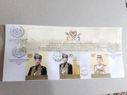 2019 Malaysia Coronation Sultan King Pahang As Agong Royal Muslim FDC Set Stamp With Photo National University Postmark - Malaysia (1964-...)