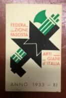 TESSERA FED. ARTIGIANI 1933 - Documenti Storici