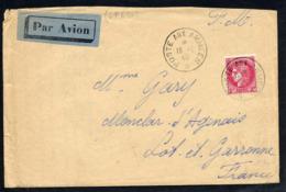 MAURY N°373 - CERES SUR LETTRE AVION EN FM OB POSTE AUX ARMEES 19/1/1940 - Guerra Del 1939-45