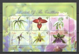 A387 2010 NEVIS  FLOWERS ORCHIDS OF THE CARIBBEAN FLORA 1KB MNH - Orquideas