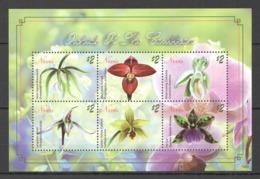 A387 2010 NEVIS  FLOWERS ORCHIDS OF THE CARIBBEAN FLORA 1KB MNH - Orchideeën