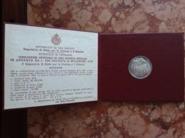 SAN MARINO - 500 Lire Argento - Anno 1976 F.D.C. + Spese Postali - San Marino