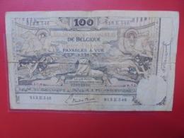 BELGIQUE 100 FRANCS 3-2-1920 CIRCULER - [ 2] 1831-... : Regno Del Belgio