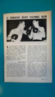 Doc De 1960/61,boxe La Courageuse Défaite D'Alphonse Halimi Contre Johnny Caldwell - Kleding, Souvenirs & Andere