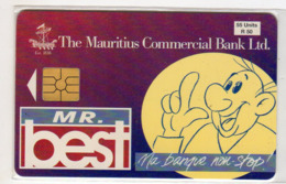 MAURICE Ref MV Cards : MAU-26 55U COMMERCIAL BANK 40 000 Ex Année 1998 - Maurice