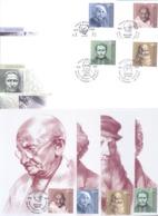 2019. Moldova, M. Gandhi, A.Einstein, Leonardo Da Vinci, L. Braille, Set Of 4 FDC + 4 Maxicards, Mint/** - Moldawien (Moldau)
