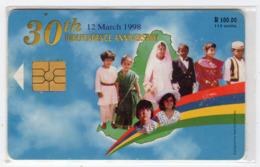MAURICE Ref MV Cards : MAU-27 115U 30 Eme Anniversaire De L'indépensance 20 000 Ex Année 1998 - Mauritius