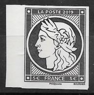 FRANCE 5.00 € Noir Cérès ** Non Dentelé Issu Du Bloc-Feuillet émission Spéciale . - France