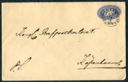 "1896 Sweden Postsaksmärke ""Postexpeditionen"" Sodra Distriktet Train Label Cover - Copenhagen Denmark. PKXP Railway TPO. - Sweden"