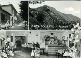 TAVERNERIO  COMO  Baita Boletto  Fabrizio  Prop.G. Rossini  Vedutine Interni Esterno Panorama  Caminetto Bancone Bar - Como
