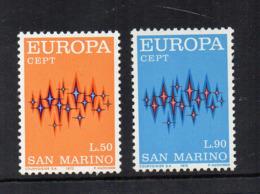 SAN MARINO - 1972 - Europa CEPT - 2 Valori - Nuovi ** - (FDC18193) - Europa-CEPT
