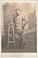 Rare Photo Carte Soldat Du 106 Avec Croix Deux Guerres Deux Citations Et Chevrons D'anciennetés Au Front - 1914-18