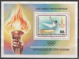 Côte D'Ivoire - Bloc - BF - YT 15 ** MNH - 1979 - Jeux Olympiques De Moscou 1980 - Gymnastique - Cheval D'arçon - Côte D'Ivoire (1960-...)