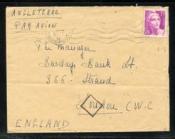 MAURY N°727 - GANDON SUR LETTRE AVION POUR L'ANGLETERRE DU 18/11/1946 - Marcophilie (Lettres)