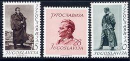 YUGOSLAVIA 1952 60th Birthday Of Tito  MNH / **.  Michel 693-95 - 1945-1992 République Fédérative Populaire De Yougoslavie