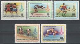 Côte D'Ivoire - YT 511-515 ** MNH - 1979 - Jeux Olympiques De Moscou 1980 - Côte D'Ivoire (1960-...)