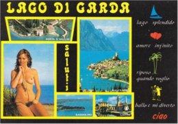 VERONA - Saluti Dal Lago Di Garda - Malcesine - Lazise - Bardolino - Pin Up - Donnina Sexy - Woman Sexy Pose - Naked - Verona
