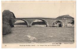 CPA 39 - PONT DE POITTE (Jura) - 597. Le Grand Pont Sur La Rivière D'Ain - Altri Comuni
