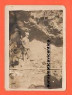 Alpini Alto Ufficiale Penna Bianca Con Fascia E Distintivo Sul Braccio Foto Anni 30 / 40 - Guerra, Militari