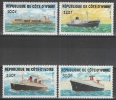 Côte D'Ivoire - YT 691-694 ** MNH - 1984 - Bâteaux - Côte D'Ivoire (1960-...)