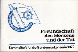 """(Kart-ZD)DDR Sammelheft Für Die DSF-Sondermarkenserie 1972 """"Freundschaft Des Herzens Und Der Tat"""" Kompl. Mit 21 Marken - [6] Repubblica Democratica"""