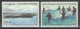 Côte D'Ivoire - YT 779-780 ** MNH - 1986 - Pêche - Côte D'Ivoire (1960-...)