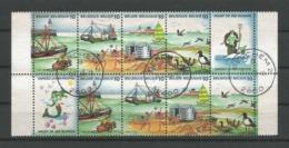 Belgium 1988 Clean Oceans 10-block Y.T. 2273/2276 (0) - Gebraucht