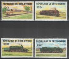 Côte D'Ivoire - YT 695-698 ** MNH - 1984 - Locomotives - Côte D'Ivoire (1960-...)