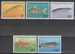 Côte D'Ivoire - YT 763-767 ** MNH - 1986 - Poissons - Fishes - Côte D'Ivoire (1960-...)