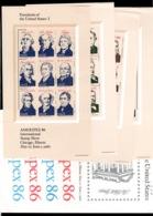 USA - Ameripex 86 , Original Enveloppe Containing The 4 MNH Sheets - Sc 2216 To 2219 - Blocks & Sheetlets