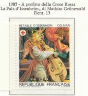 """PIA - FRA - 1985 : A Profitto Della Croce Rossa -""""La Palla"""" Di Issenheim - Opera Di Mathias Grunewald   - (Yv 2392) - Primo Soccorso"""