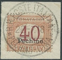 1917 CINA PECHINO SEGNATASSE USATO 40 CENT - RB25-4 - Pekin