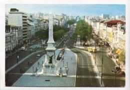 LISBON, LISBOA, PORTUGAL, Restauradores And Liberty Avenue, Unused Postcard [23715] - Lisboa