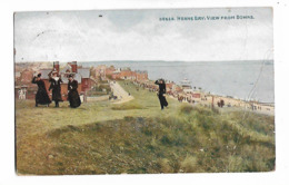 Herne Bay , View From Downs   -  Posted  1908 - Engeland