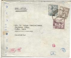 BARCELONA CC A ALEMANIA CENSURA ALEMANA Y DE BARCELONA 1943 SELLOS FRANCO DE PERFIL - 1931-Hoy: 2ª República - ... Juan Carlos I