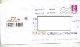 Lettre Flamme  Chiffree Sous Code Sur Ciappa  Suivie - Storia Postale