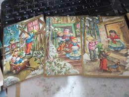 3 CARD BUON NATALE  ILLUSTRATA BAMBINI N1965 HG1617 - Altri