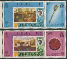 Jersey 1983 Mi 299 /2 YT 293 /6 ** Stamp Jersey Minr. 19, Royal Mace + Stamp Jersey Minr. 20F, Bailiff's Seal - 1983