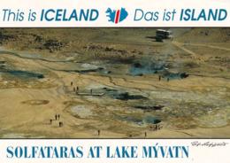 1 AK Island Iceland * Brodelnde Schlammquellen Am Námaskarð Bei Mývatn Vermitteln Den Eindruck Einer Bunten Höllenküche - IJsland
