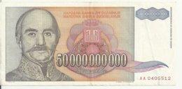YOUGOSLAVIE 50 MILLIARD DINARA 1993 VF P 136 - Joegoslavië
