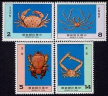 Taiwan - 1981 - Crabs - Mint Stamp Set - 1945-... Republik China