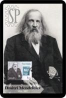 Portugal 2019 Postal Máximo Dmitri Mendeleiev Pphysics Ano Tabela Periódica Mendelévio Maximum Maxicard Science Porto - Chemie