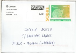 ENTERO POSTAL TARIFA A CON FRANQUEO ADICIONAL ALMUÑECAR ATM LABEL - Enteros Postales