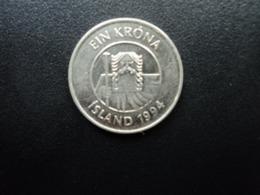 ISLANDE : 1 KRONA   1994    KM 27a      SUP+ - Iceland