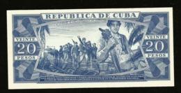 * Cuba 20 Pesos 1971  ! SPECIMEN ! - Cuba